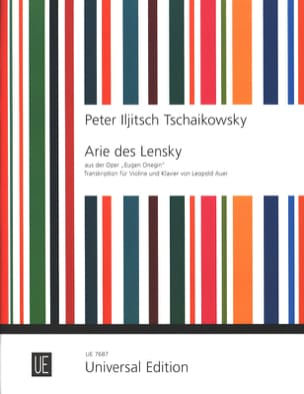 TCHAIKOVSKY - Arie Lensky Extrakt Eugen Onegin - Noten - di-arezzo.de