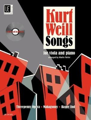 Songs pour Alto et Piano - Kurt Weill - Partition - laflutedepan.com
