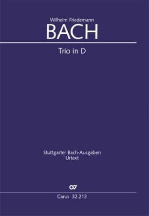 Wilhelm Friedemann Bach - Trio en Ré Majeur - Br-Wfb: B13 Fk 47 Urtext - Partition - di-arezzo.fr