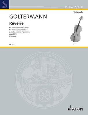 Rêverie en la Mineur Opus 54 N°3 - Georg Goltermann - laflutedepan.com