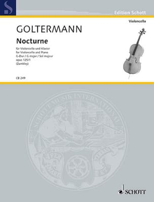 Georg Goltermann - Nocturne Opus 125 N ° 1 in G Major - Sheet Music - di-arezzo.co.uk