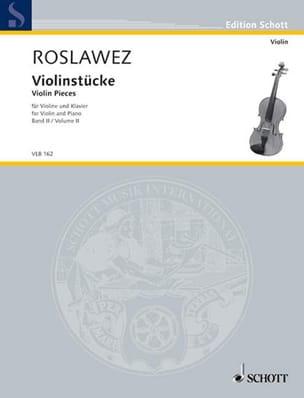 Violinstücke Volume 2 - Nikolai Roslawez - laflutedepan.com