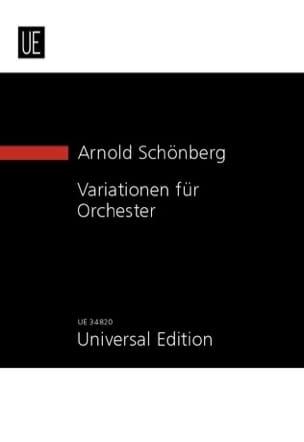 Arnold Schoenberg - Variationen für Orchester Opus 31 1928 - Sheet Music - di-arezzo.com