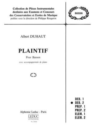 Plaintif Albert Duhaut Partition Basson - laflutedepan