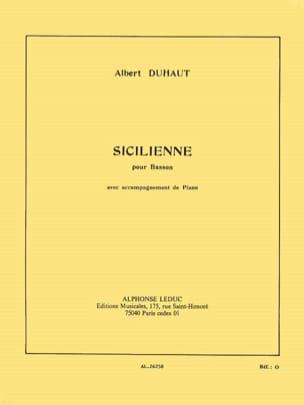 Sicilienne - Albert Duhaut - Partition - Basson - laflutedepan.com