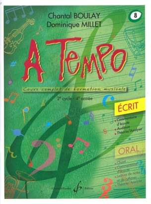 Chantal BOULAY et Dominique MILLET - A Tempo Volume 8 - Ecrit - Sheet Music - di-arezzo.co.uk