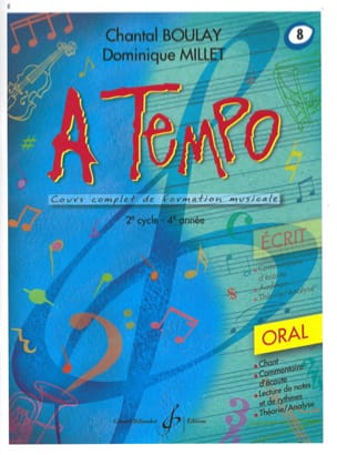 Chantal BOULAY et Dominique MILLET - A Tempo Volume 8 - Oral - Sheet Music - di-arezzo.co.uk