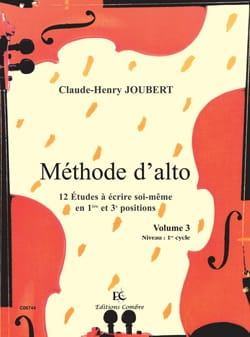 Claude-Henry Joubert - Alto Volume Method 3 - Sheet Music - di-arezzo.com