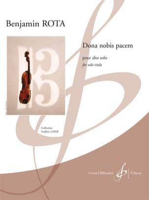 Benjamin Rota - Dona Nobis Pacem - Partition - di-arezzo.fr