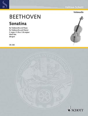 BEETHOVEN - Sonatina en Ut Majeur Wo044a - Partition - di-arezzo.fr