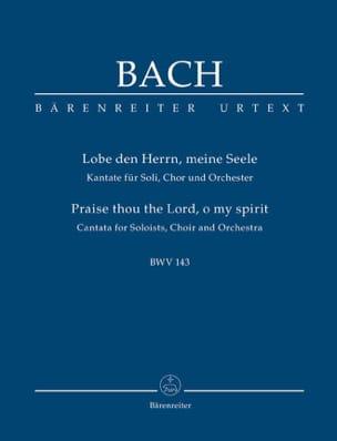 BACH - Cantate BWV 143 - Partition - di-arezzo.fr