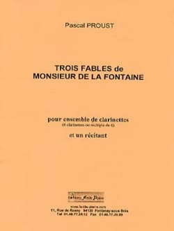 Pascal Proust - 3 Fables Of The Fountain - Sheet Music - di-arezzo.com