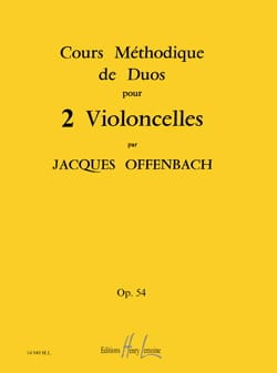 Jacques Offenbach - Cours Méthodiques de Duos Pour 2 Violoncelles Op 54 - Partition - di-arezzo.fr