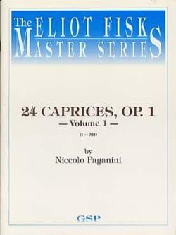 Niccolò Paganini - Caprices 1-12 Vol 1 - Guitare - Partition - di-arezzo.fr