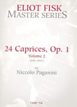 Caprices 13-24 Vol 2 - Guitare PAGANINI Partition laflutedepan