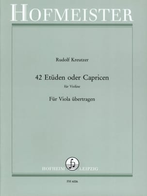 Rudolf Kreutzer - 42 Studies or Caprices - Alto - Sheet Music - di-arezzo.com