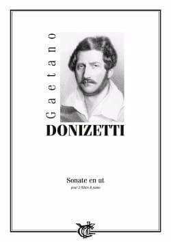 Gaetano Donizetti - Sonate en Ut - 2 Flûtes/Piano - Partition - di-arezzo.fr