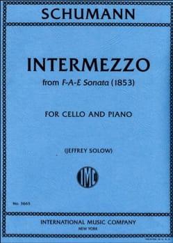 Robert Schumann - Intermezzo de la Sonate F-A-E (1853) - Partition - di-arezzo.fr