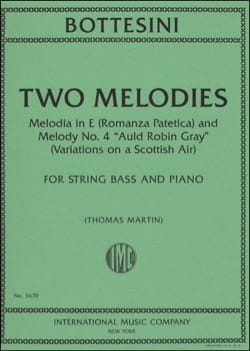 Giovanni Bottesini - Two Melodies - Sheet Music - di-arezzo.co.uk