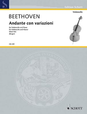 Ludwig van Beethoven - Andante Con Variazioni - Partition - di-arezzo.fr