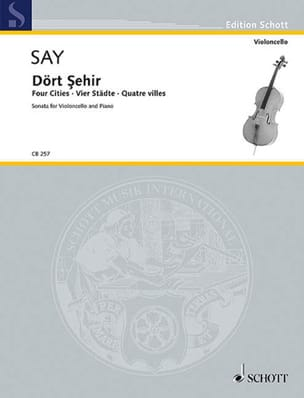 Fazil Say - Four Cities - Dört Sehir, Op. 41 - Partition - di-arezzo.fr