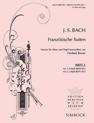 BACH - French Suites N ° 1 and 2 - Sheet Music - di-arezzo.com