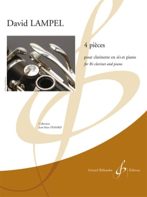 4 Pièces - David Lampel - Partition - Clarinette - laflutedepan.com