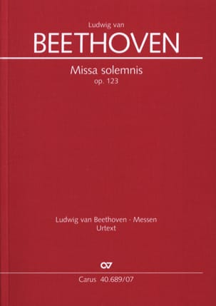 Ludwig van Beethoven - Missa Solemnis, Op. 123 - Partition - di-arezzo.fr