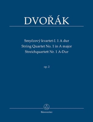 DVORAK - String Quartet N ° 1 in Major Op.2 - Sheet Music - di-arezzo.co.uk