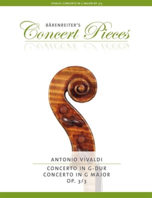 VIVALDI - Concerto in G Major Op 3/3 - Sheet Music - di-arezzo.co.uk