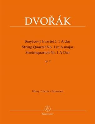 Antonin Dvorak - Quatuor A Cordes N°1 en la Majeur Op. 2 - Partition - di-arezzo.fr