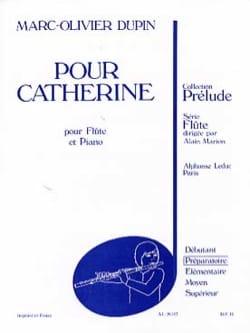 Pour Catherine - Marc-Olivier Dupin - Partition - laflutedepan.com