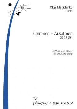 Olga Magidenko - Einatmen - Ausatmen - Partition - di-arezzo.fr