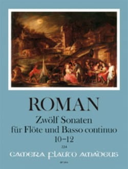 12 Sonates - Volume 4 Johan Helmich Roman Partition laflutedepan