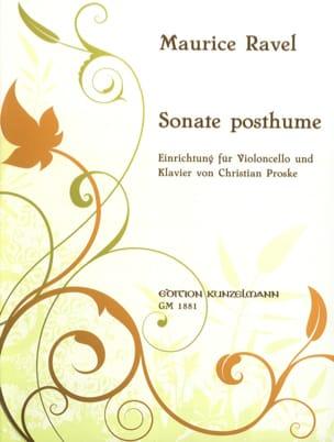 Maurice Ravel - Posthumous sonata - Sheet Music - di-arezzo.co.uk