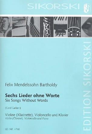 MENDELSSOHN - 6 Lieder Ohne Worte - Sheet Music - di-arezzo.co.uk