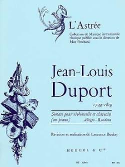 Jean Louis Duport - Sonate en Ut pour Violoncelle et Piano - Partition - di-arezzo.fr