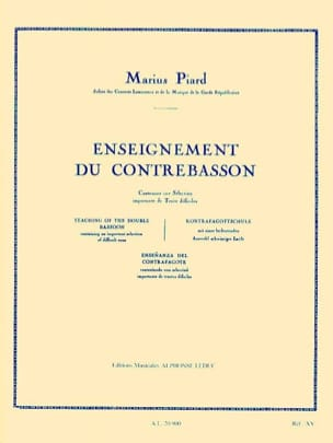 Marius Piard - Teaching of Contrabassoon - Sheet Music - di-arezzo.com