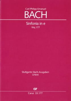 Sinfonia en Mi Mineur - Wq 177 - laflutedepan.com