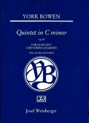 Edwin York Bowen - Quintet Op. 85 For Horn And Strings - Partition - di-arezzo.fr