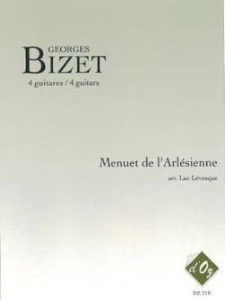 Menuet de l'Arlésienne BIZET Partition Guitare - laflutedepan