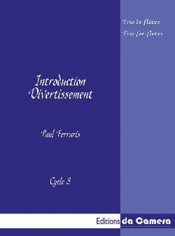 Introduction - Divertissement Paul Ferraris Partition laflutedepan