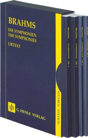 Johannes Brahms - Les Symphonies - 4 volumes réunis dans un Coffret - Partition - di-arezzo.fr