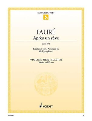 Gabriel Fauré - After a dream, op. 7/1 - Sheet Music - di-arezzo.co.uk