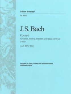BACH - Konzert für Oboe, Violine, Streicher und B.C. ré min BWV 1060 - Partition - di-arezzo.fr