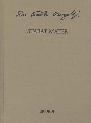 Stabat Mater PERGOLESE Partition Grand format - laflutedepan