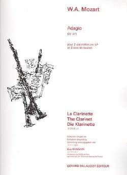 MOZART - Adagio, Kv 411 - 2 Clarinettes / 3 Cors de Basset - Partition - di-arezzo.fr