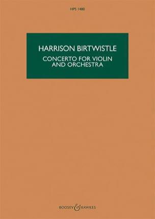 Concerto pour violon et orchestre Harrison Birtwistle laflutedepan