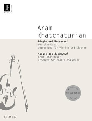 "Aram Khatchaturian - Adagio and Bacchanal of ""Spartacus"" - Partition - di-arezzo.co.uk"