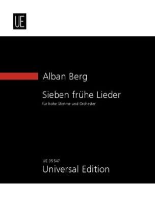 Alban Berg - Sieben frühe lieder - Partition - di-arezzo.fr